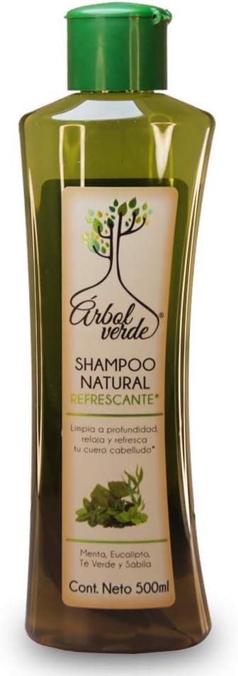 Shampoo Natural Orgánico Árbol Verde ® Refrescante a base de Eucalipto y Sábila 500ml: Amazon.com.mx: Salud y Cuidado Personal