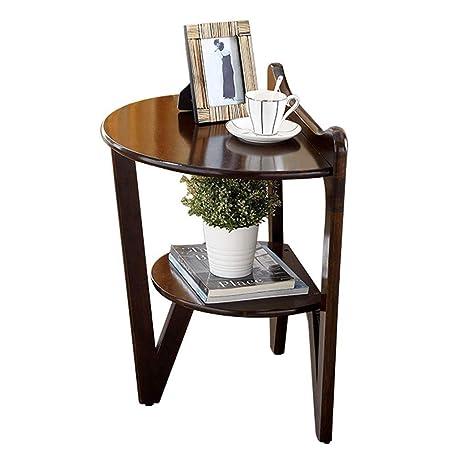 Mesa redonda pequeña de madera del sofá de la mesa redonda ...