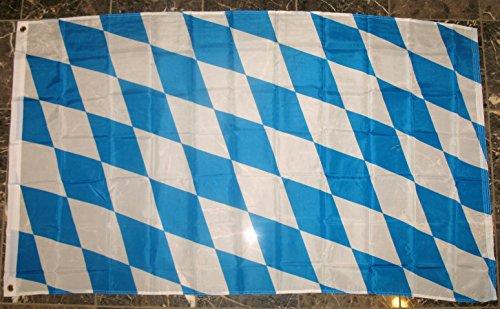 Bavaria Flag (Bavaria Flag 3'x5' German Bavarian Banner)