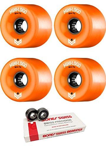 登る結果ケイ素66 mm Miniロゴa.w.o.l. a-cutスケートボードWheels with Bones Bearings – 8 mm Bones Swiss Skateboard Bearings – 2アイテムのバンドル