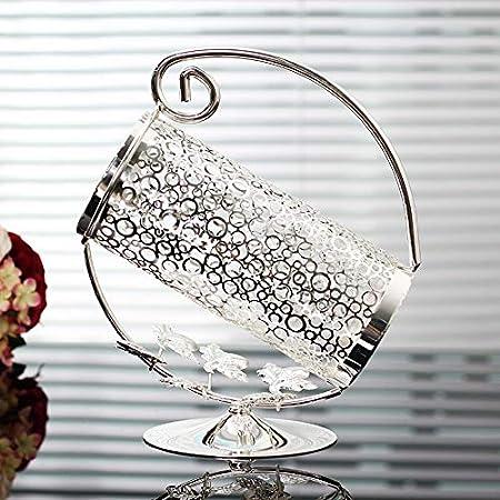 AIQQ Botellero Vinoteca Estante para vinos Chapado en Plata Hueco Vino de Acero Inoxidable Hierro Decoración Obra Arte Regalo Soporte