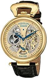 Stuhrling Original Men's 127A2.333519 Analog Display Automatic Self Wind Black Watch