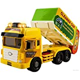 WolVol Heavy-Duty Friction Powered Garbage Truck - Durable Large Disposal Truck Toy for Kids & Children