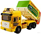 WolVol Heavy Duty Friction Powered Garbage Truck Toy