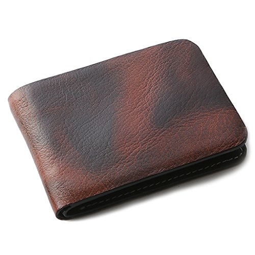 OHM Leather New York Wallet in Tiger Print