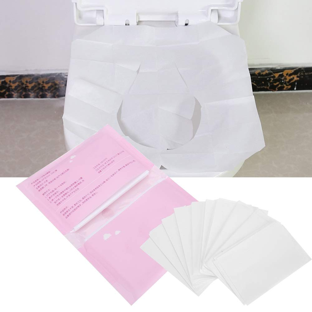 Jadeshay Toilet Seat Paper,5 Bags Disposable Dissolvable Toilet Seat Paper for Travel,10pices/Bag by Jadeshay