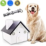 Ultrasonic Anti Barking Device, Sonic Bark Control Deterrent - Stop Dog Barking, Humane & Safe for Dogs, Pets & Humans, Outdoor & Indoor Birdhouse, Up to 50 Feet Range + Dog Whistle