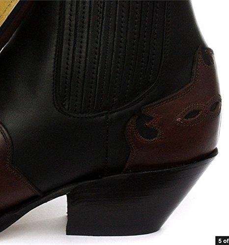 Grinders Arizona Lo unisex in pelle tacco cubano Stivali da Nero cowboy