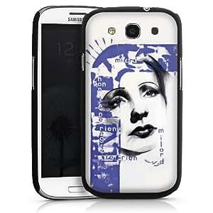 Carcasa Design Funda para Samsung Galaxy S3 i9300 / LTE i9305 HardCase black - Edith Piaf