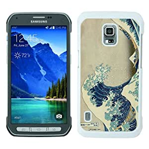 Durable High Quality Japanese Art The Great Wave off Kanagawa White Samsung Galaxy S5 Active Screen Phone Case
