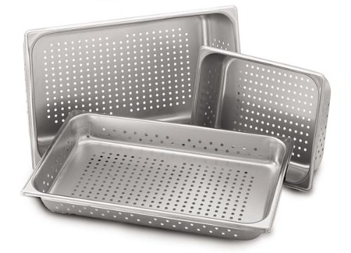 Royal Industries Half-Size 4'' Steam Table Pan, Perforated