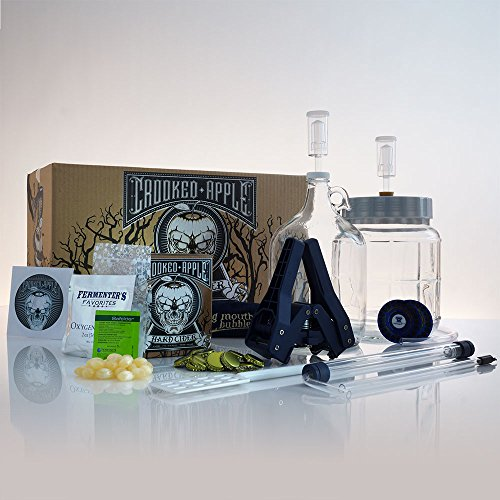 Northern Brewer - Crooked Apple Complete Hard Cider Making Starter Kit - 1 Gallon Grimhilde Cider Recipe And Little Big Mouth Bubbler Equipment by Northern Brewer (Image #2)