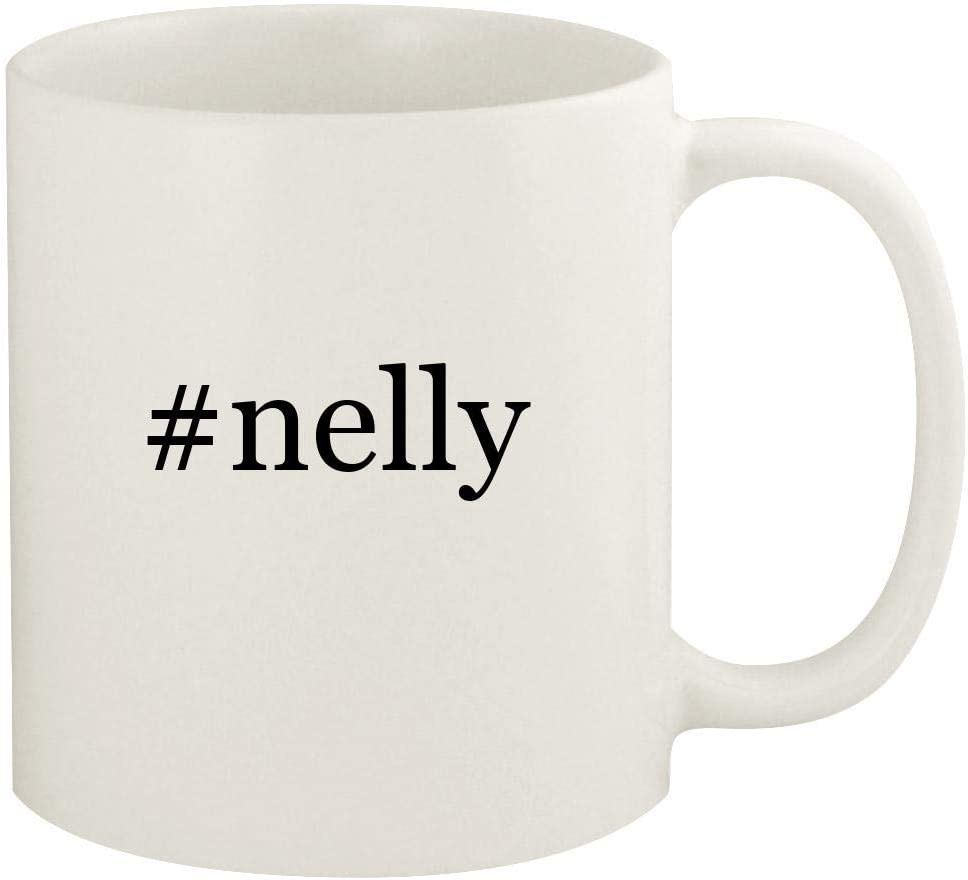#nelly - 11oz Hashtag Ceramic White Coffee Mug Cup, White