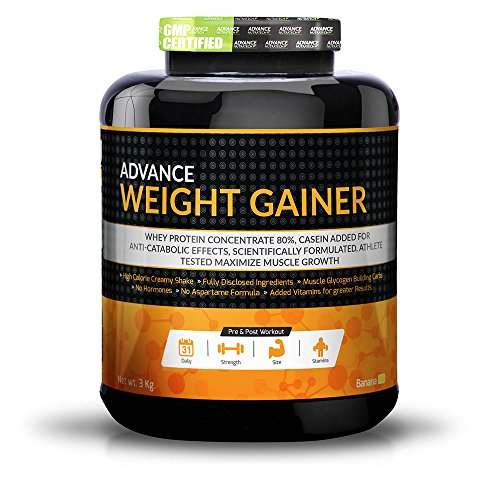 Advance Weight Gainer 3Kg (6.6LBS) Banana by ADVANCE NUTRATECH