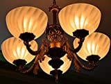 Best Selling Premium Quality Antique Design Brass 5 Portuguese Style Antique Golden Chandelier with 5 Lamps