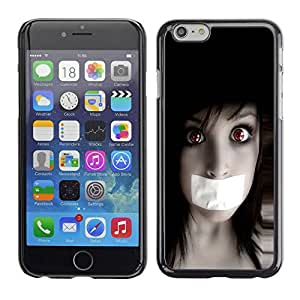 Carcasa Funda Prima Delgada SLIM Casa Case Bandera Cover Shell para Apple Iphone 6 / Business Style Anime Goth Girl