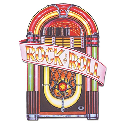 Club Pack of 12 Vintage-Style 50's Rock & Roll Juke Box Cutout Decorations 36
