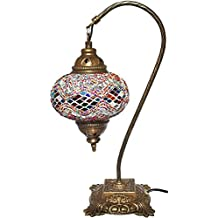 Mosaic Table Lamp,16.5 inches height x 6.7 inches lamp diameter.Desk Light, Lantern, Boho Lamps, Eclectic Decorating, Moroccan House, Marrakesh Design, Turkish Lights, Rustic Furniture, Christmas Gift