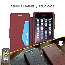 OtterBox STRADA SERIES Leather Wallet Case for iPhone 6/ iPhone 6s only - Retail Packaging - NEW MINIMALISM (BLACK/BLACK LEATHER)