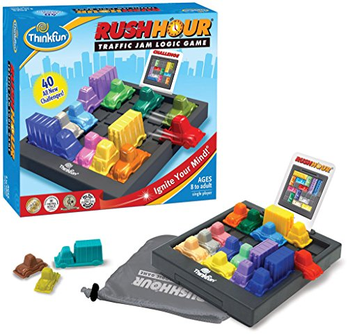 - ThinkFun Rush Hour Traffic Jam Logic Game and STEM Toy for Boys and Girls Age 8 and Up - Tons of Fun With Over 20 Awards Won, International Bestseller for Over 20 Years