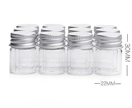 5 ml frascos botellas claro cristal botella de caramelos con tornillo de aluminio Alto fuerte Mignon