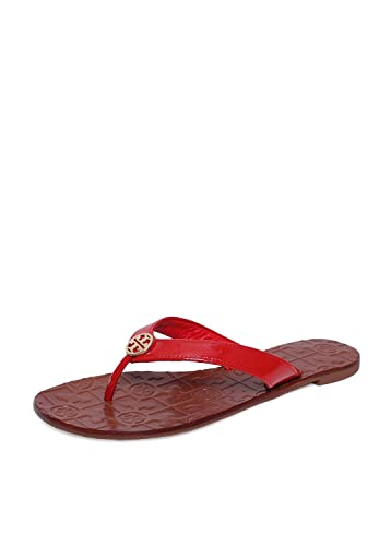 0e55f07327d83c Tory Burch Thora 2 Patent Leather Sandal Red Women s 7 M US