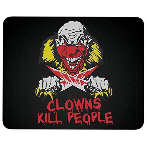 Clowns Kill People Non-Slip Rubber Base Mousepad for Laptop, Computer & PC, Halloween Serial Killer Clown Mouse Pad(Mouse Pad - Black) -