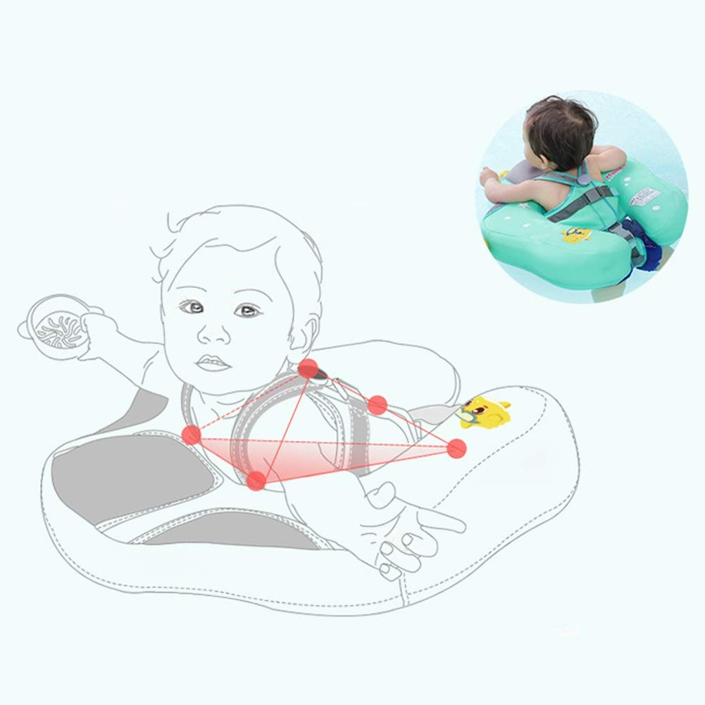 Skyoo Baby Solid Swimming Float No Need Inflatable Swimming Ring for Bathtub Pools Swim Trainer for 0-6 Months Baby