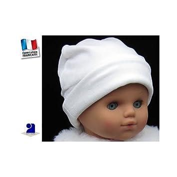 3a549f6c89d Bonnet blanc velours bébé
