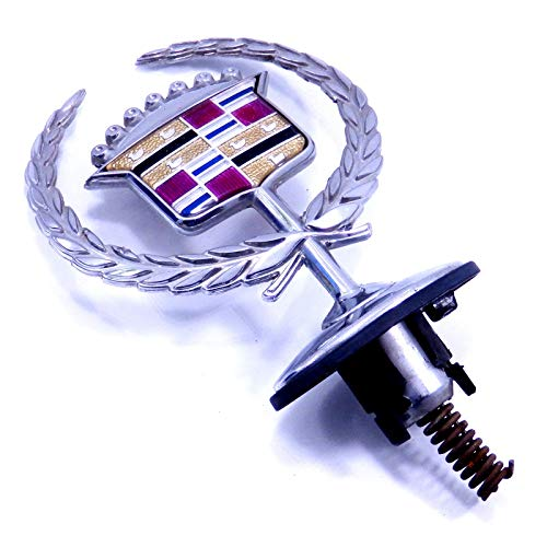 00 01 02 Cadillac Deville Hood Ornament Emblem Crest Wreath Logo Front Badge OEM