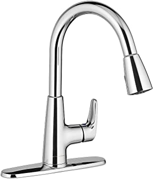 American Standard 7074300 002 Colony Pro Single Handle Kitchen Faucet With Pull Down Spray Polished Chrome Amazon Com