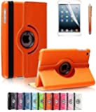 Apple iPad 2/3/4 Case, CINEYO(TM) 360 Degree Rotating Stand Case Cover with Auto Sleep / Wake Feature for iPad 2/3/4(10 Colors)this case is for Apple iPad 2 3 4 (Orange)