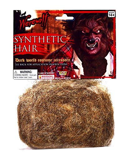 Forum Novelties Werewolf Synthetic Hair - Brown Accessory ()