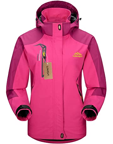 6a51cf39ba Lixada Waterproof Jacket Windproof Jacket Outdoor Hiking Traveling Cycling  Sports Detachable Hooded Raincoats for Men