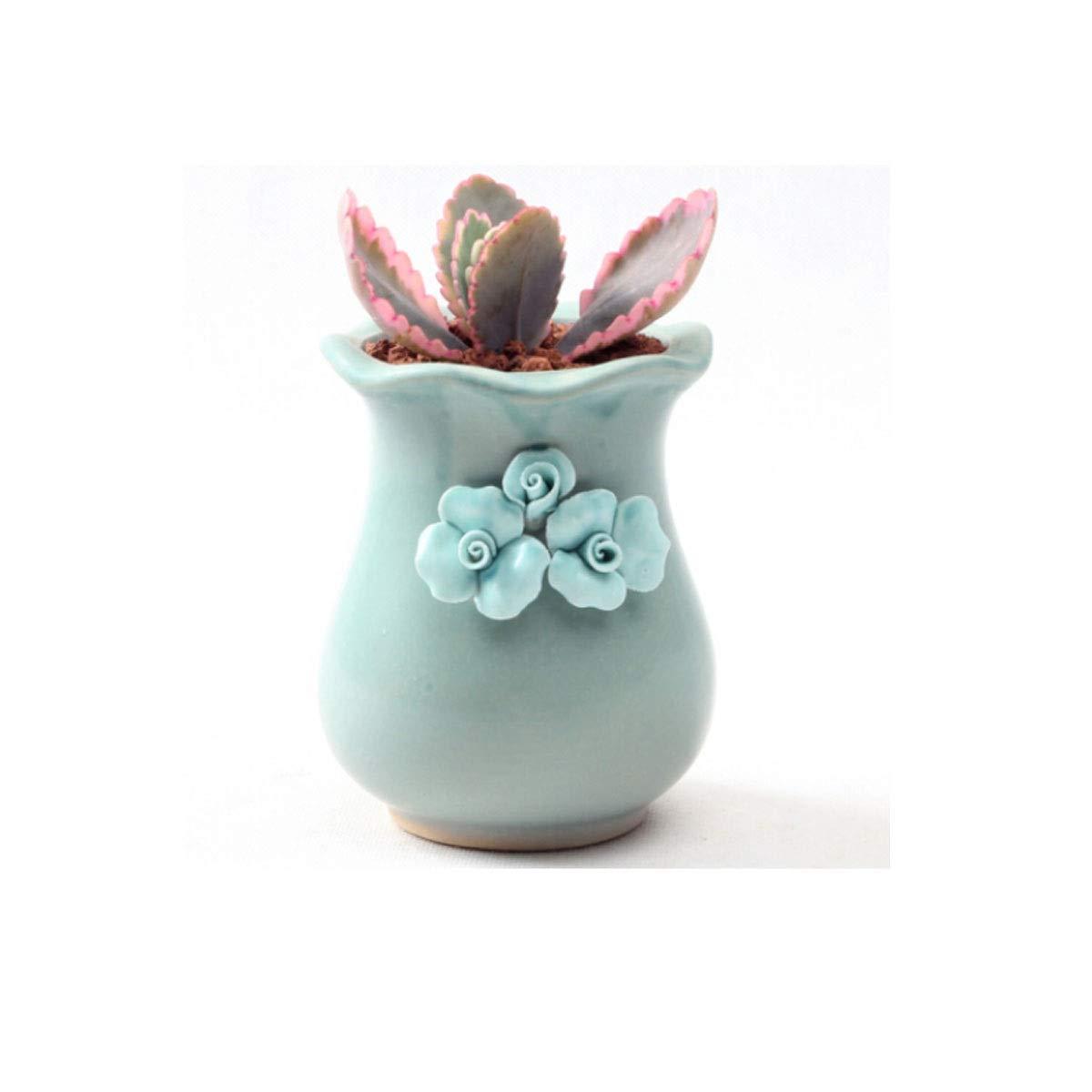 HUIJUNWENTI Gardening Three Flower Gourd Flower Pots, Ceramic Nordic Vases, Indoor Living Room Creative Small Flower Pots, (Color : Z) by HUIJUNWENTI