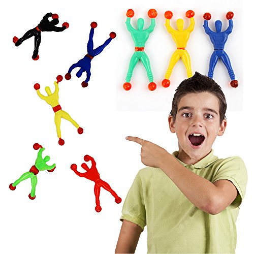 Toy Cubby Kids Party Favor Toy Sticky Wall Climbers Men - 24 (Halloween Party Favors For Toddlers)