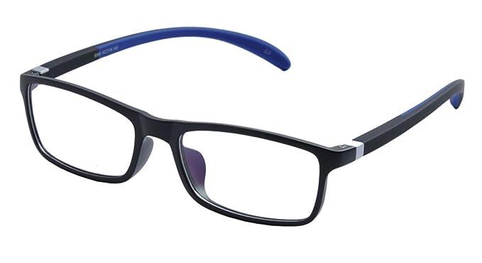 a74c33528ca Amazon.com  De Ding Plastic Frame Silicon Temple Reading Glasses ...