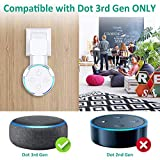 BOVON Outlet Wall Mount Hanger Holder Stand for Echo Dot 3rd Generation, Best Space-Saving Dot Accessories with Cord Management for Your Smart Home Speaker Without Mess Wires or Screws