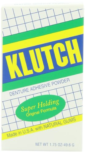 Klutch Denture Adhesive Powder, 1.75 Ounce by Oakhurst Co.