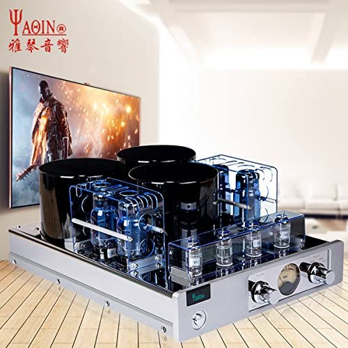YAQIN MC-13S EL34 6CA7 4 Vacuum Tube Integrated Push-Pull Amplifier Silver