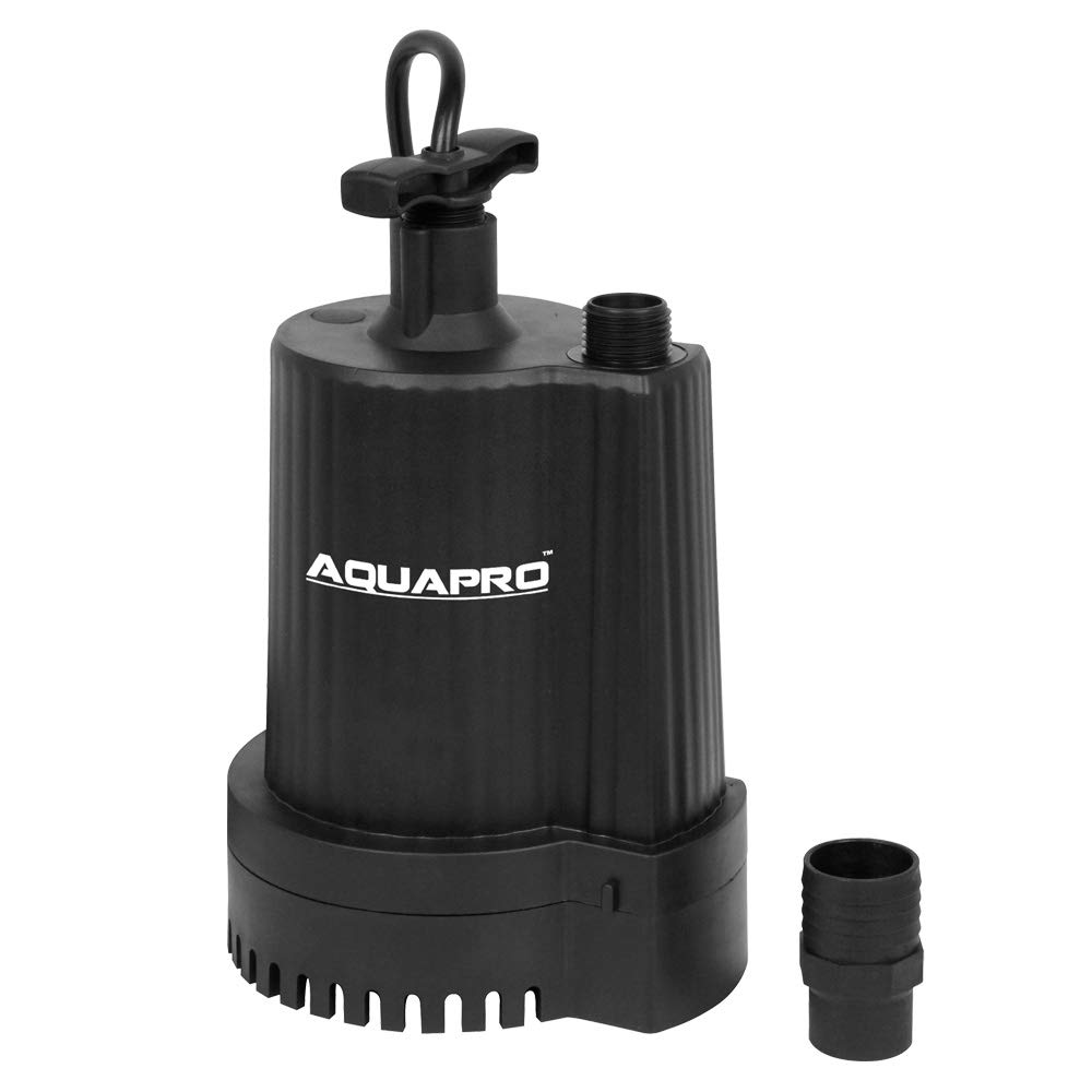 AQUAPRO 1/6 HP Submersible Utility Pump, 1500 GPH, Corrosion-resistant, Oil-filled Motor, 1 Year Warranty by AQUAPRO (Image #1)