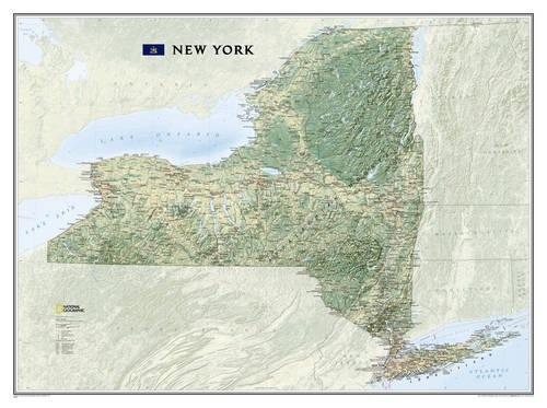 - National Geographic: New York Wall Map (40.5 x 30.25 inches) (National Geographic Reference Map)