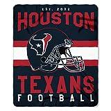 "NFL Houston Texans ""Singular"" Fleece Throw Blanket""Singular"" Fleece Throw Blanket, Blue, One Size"