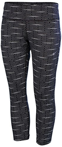 Nike Women's Dri-Fit Epic Run Crop Running Tights-Black/White-XL