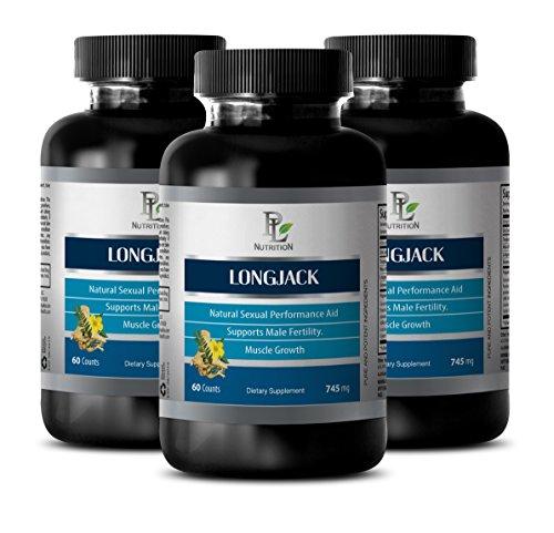 Testosterone booster for men natural - LONGJACK NATURAL TESTOBOOSTER - Tongkat ali extract bulk - 3 Bottle 180 Capsules by PL NUTRITION