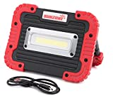SUNZONE Portable LED COB Work Light,Outdoor Waterproof Flood Lights, for Camping,Hiking,Car Repairing,Workshop,Construction Site,Builtin