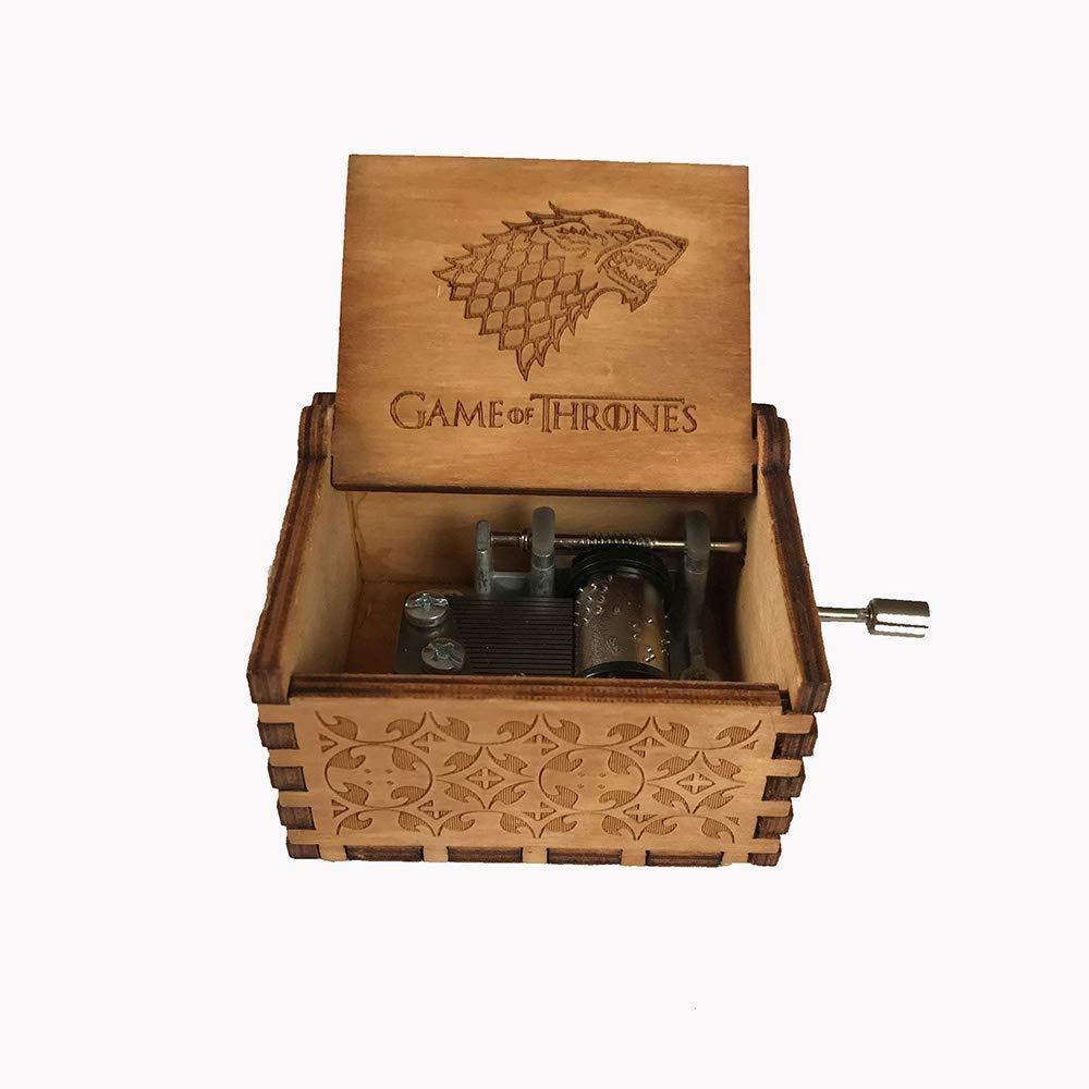 MINGZE Manovella in Legno Music Box meccanismo Beauty And The Beast(Black) Best Gift for Kids Friends variet/à di Stili Carillon Creativo Personalizable