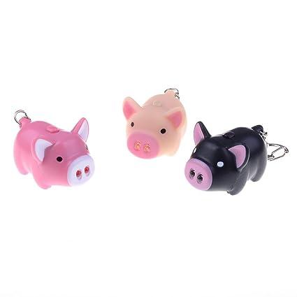 AOWA - Llavero de llavero con linterna de cerdo, bolsa de ...