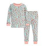 Burt's Bees Baby Baby Little Kids Pajamas, Tee and Pant 2-Piece PJ Set