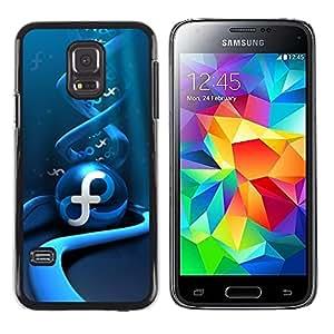 LECELL -- Funda protectora / Cubierta / Piel For Samsung Galaxy S5 Mini, SM-G800, NOT S5 REGULAR! -- Abstract Blue Swirl --